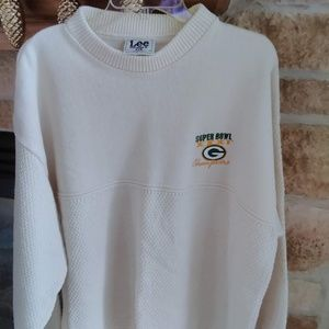 VINTAGE Green Bay Packers Super Bowl 31 Sweater